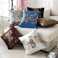 Fabric Decor Gold Foil Cushion Case Pillowcase Sofa  Pillow Cover Car Waist