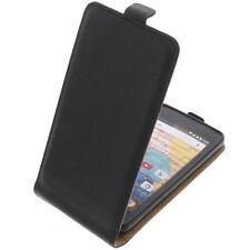 Tasche für Archos 45b Neon FlipStyle Handytasche Schutz Hülle Flip Case Schwarz