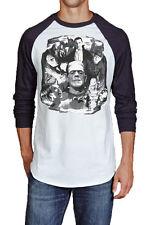 Rock Rebel Mens Monster Collage Grey and Black Raglan T Shirt