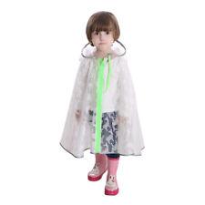 Transparent Imperméable Hooded Poncho Cloak Raincoat Schoolbag Seat Pour Enfants