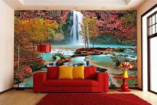 3D Leaves pool 425 WallPaper Murals Wall Print Decal Wall Deco AJ WALLPAPER