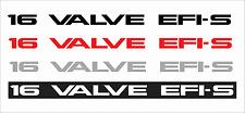 TOYOTA 16 VALVE EFI-S Vinyl Sticker Decals - SET of 2