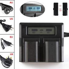 LCD Dual Battery Charger For LP-E6 Canon 7D 6D 5D Mark II  III 60D 70D 80D DSLR