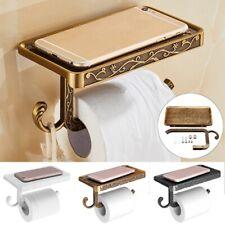 Bathroom Toilet Paper Storage Holder Mobile Phone Holder Aluminum Roll Holder