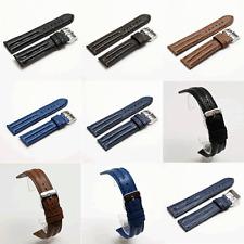 Fleurus Sharkskin Watch Strap : Black, Brown, Dark Brown, Blue, Dark Blue (H7)