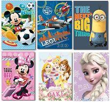 Disney & Kids TV Character Panel Fleece Blanket Bed Throw Brand New Gift