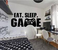 Gamer Controller Eat Sleep Game Wall Art Vinyl Decal Sticker V493