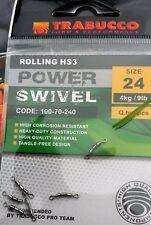 TRABUCCO ROLLING hs3 con snodo Treble girevole POST LIBERO Taglia 16 a 24 6 per confezione