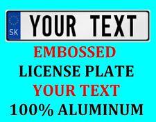 Slovakia Slovak European Euro License Plate Number Plate Custom Text Customized