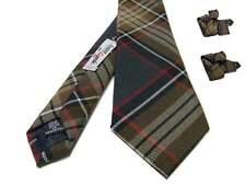 Cravatta in lana a quadri per uomo grigio scuro beige marrone cravatte tartan