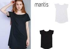 maglietta donna manica corta in cotone mantis t-shirt taglio femminile lungo
