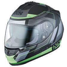 IXS HX 444 Edge Moto Casco integral Fibra de vidrio - Mate Negro Verde