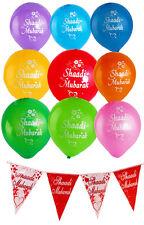 Shaadi Mubarak Balloons & Banners Double Sided Large Multi-coloured Quality Gift
