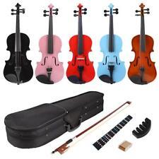 Lila Blumen Geige Violine Kindergeige Schülergeige 3//4 Anfängergeige 10-11 J