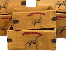 Dalmatian Vintage Box Dog Treats Great Dalmatians Gift Storage Crate Single