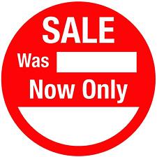 Thermodrucker - Runde - Sale Was/Now Only - Preisschilder/Aufkleber