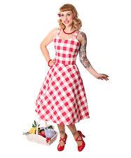 SugarShock Zoja 50er retro Gingham Picknick Latzkleid Petticoat Rockabilly Kleid