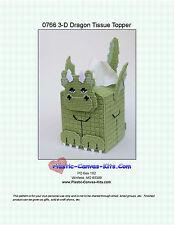 Dragon  3-D Tissue Topper-Plastic Canvas Pattern or Kit
