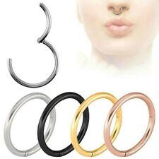 ANNEAU NASAL piercing septum hélix Charnière oreille Segment Tragus Lèvres nez