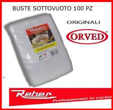 REBER 100 PEZZI BUSTE SACCHETTI SOTTOVUOTO SOTTO VUOTO PER ALIMENTI MADE ITALY