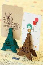 Eiffel Tower Card Holder zakka wooden deco photo peg clip memo DIY place marker