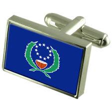 Pohnpei (Ponape) Flag Cufflinks Tie Clip Lapel Badge Gift Set Engraved WFC345