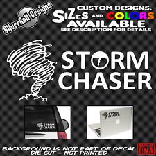 Storm Chaser Custom vinyl sticker decal car Tornado Hurricane Spotter Weather