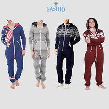 Men's Onesie0 Fashion Printed Jumpsuit Hooded One Piece Pajamas Sleepwears Suit