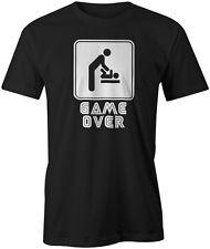 Game over nouveau bébé Citation Drôle Blague papa T-shirt style de jeu