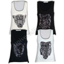 Camiseta Mujer Brave Soul de tirantes Simba Hedwig Lentejuelas Casual Verano