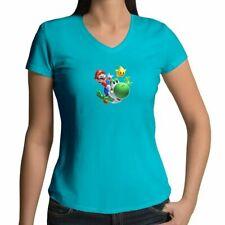 Super Mario Galaxy Cute Yoshi Fun Juniors Tee T-Shirt Cartoon Luma Star Sz S-2XL