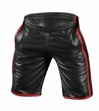 Men's Leather Shorts Pants Gym Sport Jogging Cargo Shorts Sheep Lamb (SHORTS5)