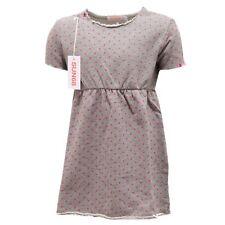 0348S vestito bimba SUN 68 felpa cotone grigio pois fuxia abito dress kid
