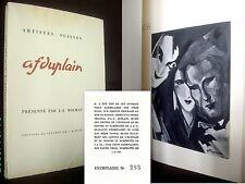 """""""A. F DUPLAIN"""" Collection Artistes Suisse(s) Peinture Painting Art numéroté 1943"""