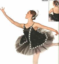Twilight Dance Costume Black Swan Lake Ballet Tutu Ballerina Clearance CM,CL,AXL