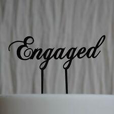 Engaged Cake Topper, Bridal Shower Kitchen Tea Engagement Party, wedding acrylic