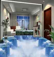 3D cascata natura Pavimento Foto Wallpaper Murales Muro Stampa Decalcomania