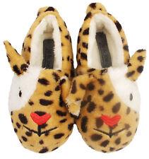 Kids Novelty Bunny Girls Slippers Infant Fur Fleece Mules Warm Winter Shoes UK