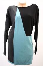 Victoria's Secret Moda Slouchy Knit Printed Colorblock Winter Sweater Dress
