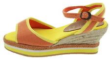 Kickers oelia plateau sandali zeppa arancione 177485