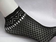 Netzsöckchen mit Spitze, Gothic, sexy Socken schwarz und hautfarben, one size