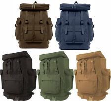 European Style Heavyweight Canvas Rucksack Backpack Bag