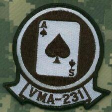 Usmc Av-8B Harrier V/Stol Fighter Shoulder Sleeve Insignia: Vma231 Ace of Spades