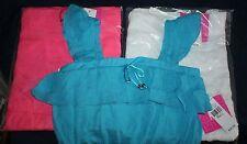 NWT  iZ Byer girl Ruffle Top - Girls Sizes S - XL Choice Pink Blue White Rtl $30