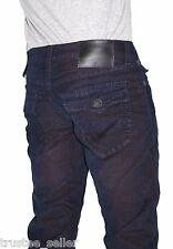 NWT True Religion Brand Men's Geno Slim Flap Corduroy Big T Stitch Jeans Pants