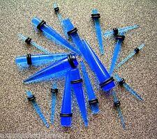 PAIR 2 PIECES BLUE Ear Taper Plug Stretcher Expander Gauge You Pick Size