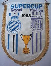 Wimpel   SUPERCUP FINALE 1988    KV BRÜGGE - ANDERLECHT