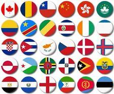 MINI FRIDGE MAGNET - WORLD FLAGS Various  25mm / 1 inch, C to E