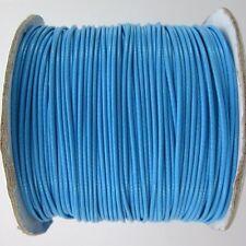 5m ou 10m Fil en Coton Ciré Bleu Cordon coton cire, attache tetine, bijoux