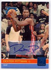 DEXTER PITTMAN 2010-11 Donruss AUTOGRAPH Rated Rookie RC AUTO Miami Heat #d /599